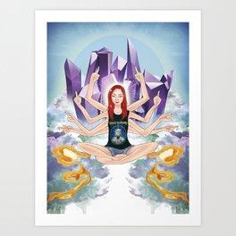 Inessa of IDGAF Art Print