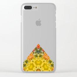 Marigold Kaleidoscope Photographic Pattern #1 Clear iPhone Case