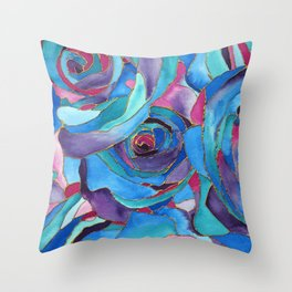 Sea of Roses Throw Pillow