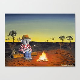 Sitting Near the Fire Canvas Print