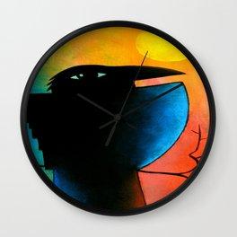 Crow on a Branch ... dk_2016nov24a Wall Clock