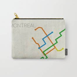 Minimal Montreal Subway Map Carry-All Pouch