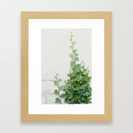 By the wall Framed Art Print