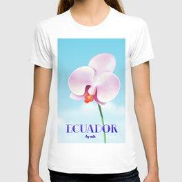 Ecuador Orchid travel poster print, T-shirt