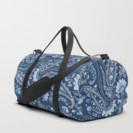 Blue indigo paisley Duffle Bag