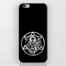 Staring wolf iPhone & iPod Skin