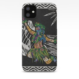 Polynesian Hula Dancer Tapa Print iPhone Case