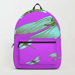 PANTENE ULTRA VIOLET PURPLE EMERALD DRAGONFLIES ART Backpack
