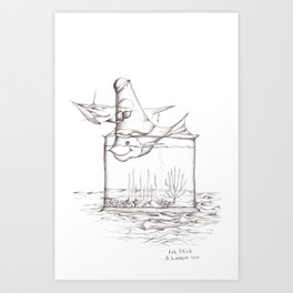 Fish Stick 2013 Art Print