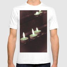 split toning candels Mens Fitted Tee White MEDIUM