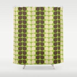 Retro leaf Shower Curtain
