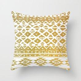 GOLDEN TRIBAL Throw Pillow