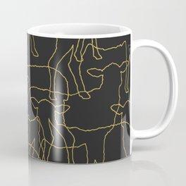 Sheeps- Yellow graphic on dark grey Coffee Mug