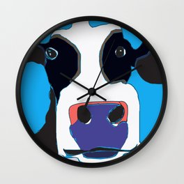 Cow in the Blue Sky Wall Clock