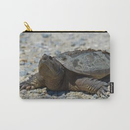 Snapping Turtle Animal Reptile / Wildlife Photograph Carry-All Pouch