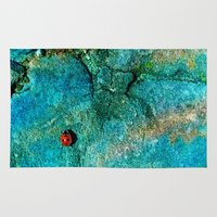 ladybug Area & Throw Rugs featuring LadyBug by Sandy Broenimann