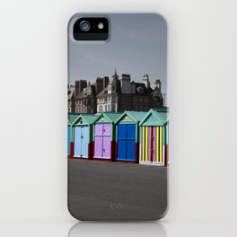 Colorful beach huts iPhone Case