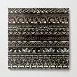 Ethnic tribal Pattern Metal Print