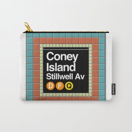 subway coney island sign Carry-All Pouch