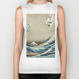 The Great Wave Off Katara Biker Tank