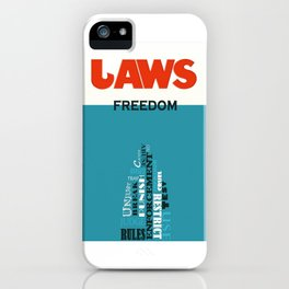 Laws of Freedom iPhone Case