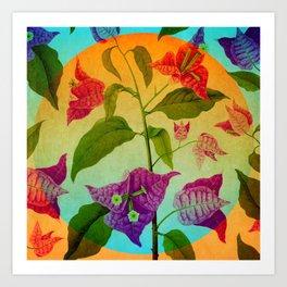 Bright Botanical Art Print