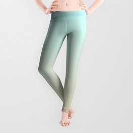 Pale Turquoise Tropical Paradise Ibiza Island Balearic Beach Leggings