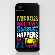 Miracles Don't Happen iPhone (4, 4s) Slim Case
