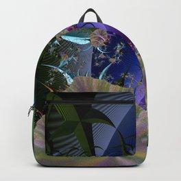 Night among fantasy plants Backpack