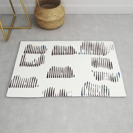 Rolled lines Rug