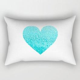AQUA HEART Rectangular Pillow
