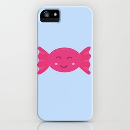 Pink candy bonbon with smile iPhone Case
