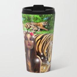 Tiger Beach Metal Travel Mug