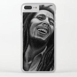 Bob 420 Marley Clear iPhone Case