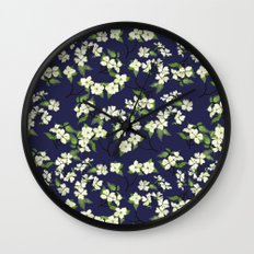 April blooms(Dogwoods_blue) Wall Clock