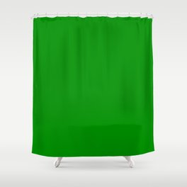 Islamic Green - solid color Shower Curtain