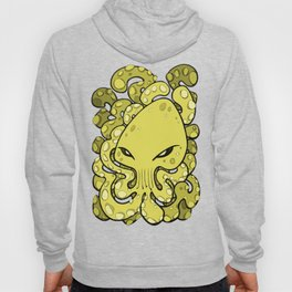 Octopus Squid Kraken Cthulhu Sea Creature - Meadow Lark Yellow Hoody