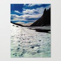 john snow Canvas Prints featuring Snow Path by John Monastero