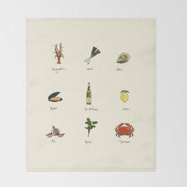 Summer Kitchen Throw Blanket