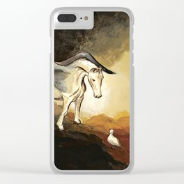 Winged horse with seagull - Silver Stream Children's Book illustration Clear iPhone Case