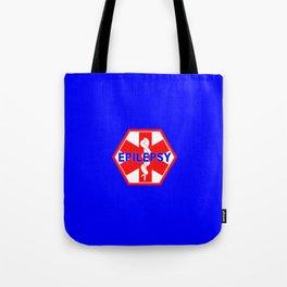 MEDICAL ALERT Epileptic SEIZURES Identification tag Tote Bag