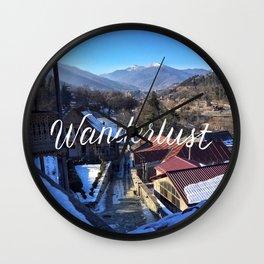 Wanderlust // #TravelSeries Wall Clock