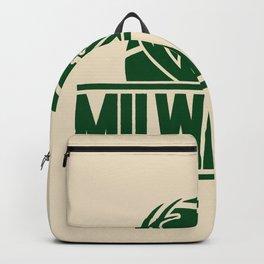 Milwaukee basketball custom cream logo Backpack