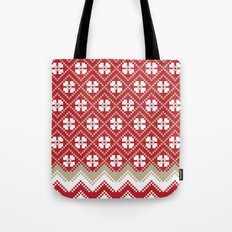 Glove in Red Tote Bag