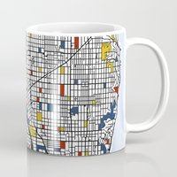 mondrian Mugs featuring Seattle Mondrian by Mondrian Maps