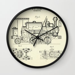 Locomotive-1886 Wall Clock
