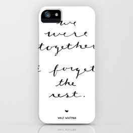 Together Love Print Valentine iPhone Case