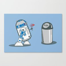 Robot Crush Canvas Print
