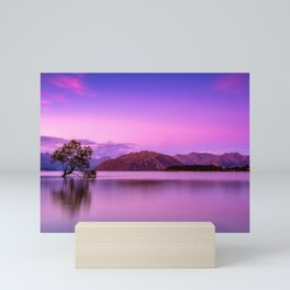 New Zealand Sky Clouds Mountains Fog Sunrise Mini Art Print