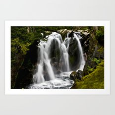 Waterfall on Paradise River Art Print